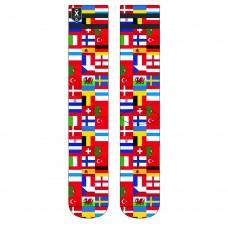 Socks XPOOOS euro 2020 flags